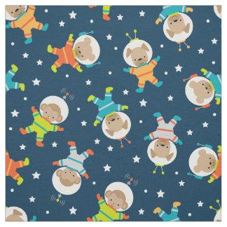 Astronauta animal bonito e tecido do espaço