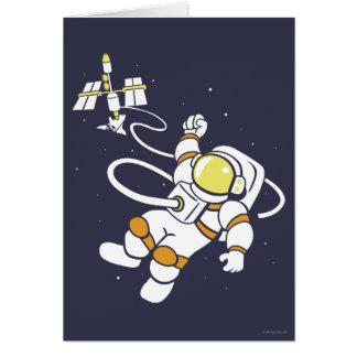 Astronauta Cartão Comemorativo