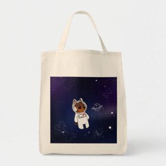 Astronauta mínimo do Pin no bolsa da loja da bolsa