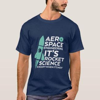 Astronáutica engraçada do t-shirt da engenharia camiseta