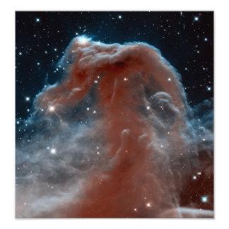 Astronomia de espaço da nebulosa de Horsehead Impressão De Foto