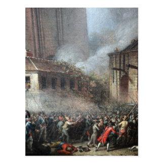 Atacando o Bastille, o 14 de julho de 1789 Cartoes Postais