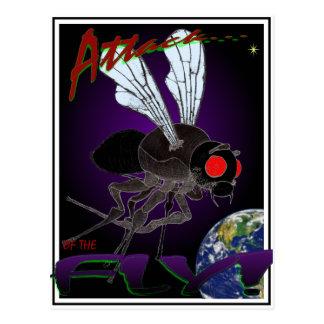 Ataque da mosca cartão postal