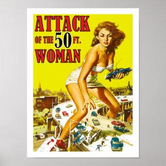 Ataque da mulher de 50 pés pôster