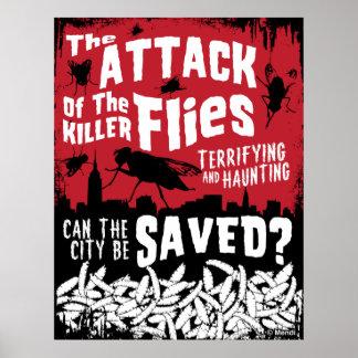 Ataque das moscas! posteres