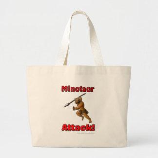 Ataque de Minotaur (com slogan) Bolsas De Lona