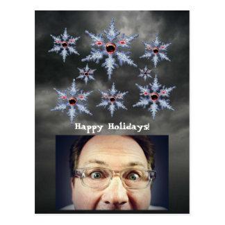 Ataque do cartão dos feriados dos zombis do floco