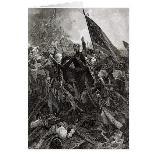 Ataque do ponto rochoso, em julho de 1779 cartoes