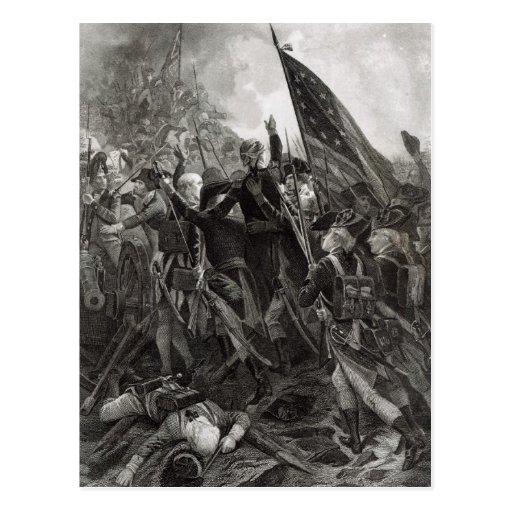 Ataque do ponto rochoso, em julho de 1779 cartão postal