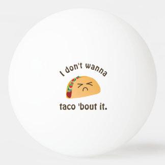 Ataque do Taco 'ele humor engraçado da chalaça da Bola De Ping-pong