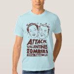 Ataque dos zombis dos namorados tshirts