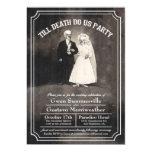 Até a morte faça-nos convites do casamento vintage