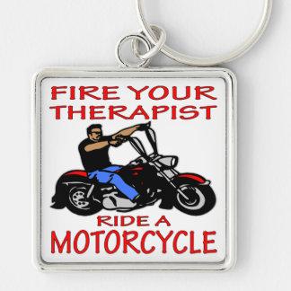 Ateie fogo a seu passeio do terapeuta uma motocicl chaveiros