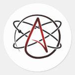 Ateísmo Adesivos Redondos