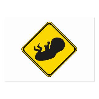 Atenção: Bebê adiante! Modelo Cartao De Visita