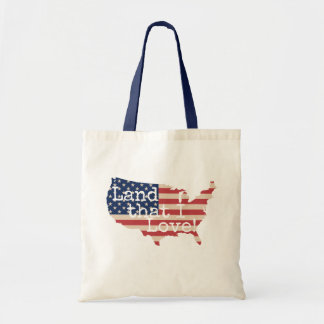 Aterre que eu amo o bolsa da bandeira americana
