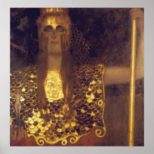 Athene de Pallas por Gustavo Klimt Posteres