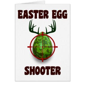 atirador do ovo da páscoa, desgin engraçado do cartão