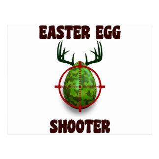 atirador do ovo da páscoa, desgin engraçado do cartão postal