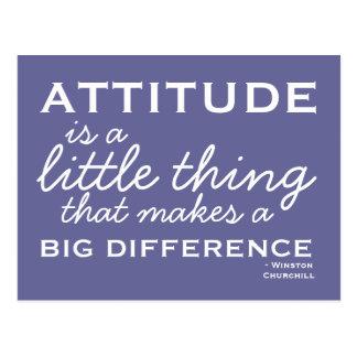 Atitude - cartão inspirador