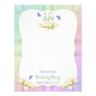 Atividade da festa de aniversário das borboletas modelos de papel de carta