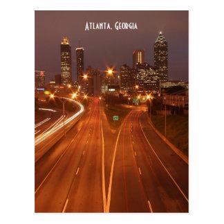Atlanta Geórgia no cartão do crepúsculo