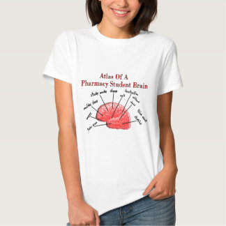 Atlas de um cérebro do estudante da farmácia camiseta