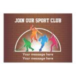 Atletismo da escola do modelo do convite convite 12.7 x 17.78cm