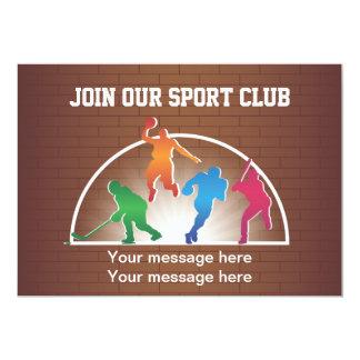 Atletismo da escola do modelo do convite
