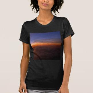 Atmosfera do roxo do por do sol camiseta