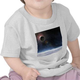 Atmosfera exterior da terra do planeta camisetas