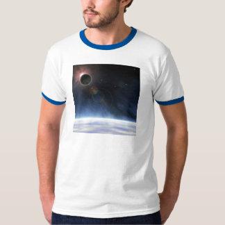 Atmosfera exterior da terra do planeta t-shirts