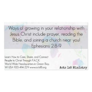 Ato de planeamento do cartão cristão da bondade cartão de visita