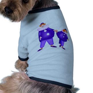 Ato do palhaço de circo camisa ringer para cachorro