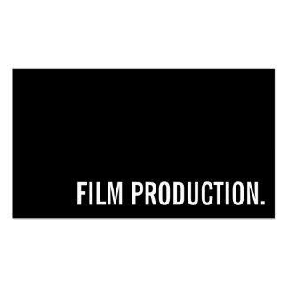Ato do produtor de filmes do diretor Clapperboard Cartão De Visita