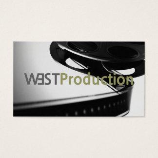 Ato do produtor de filmes do diretor Clapperboard Cartão De Visitas