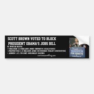 Ato dos trabalhos de Scott Obama obstruído Brown Adesivo