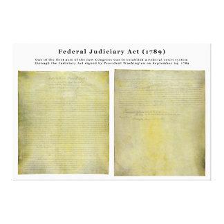 Ato judiciário dos Estados Unidos ORIGINAIS de 178 Impressão Em Canvas
