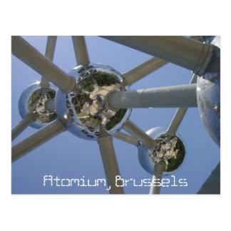 Atomium, cartão de Bruxelas, Bélgica