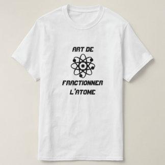Átomo com l'atome de de fractionner da arte do camiseta