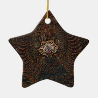 Átomo psicadélico ornamento de cerâmica