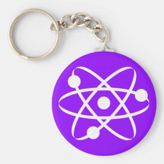 Átomo roxo violeta chaveiros