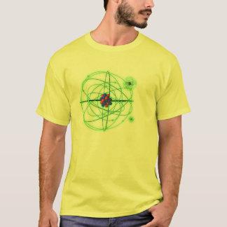 Átomos em um t-shirt camiseta