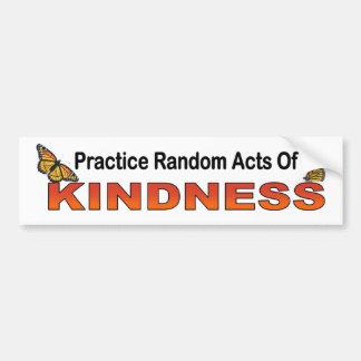 Atos aleatórios da prática da bondade inspiradores adesivo para carro