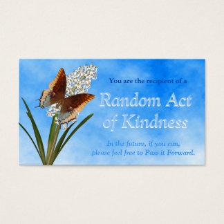 Atos aleatórios de cartões da bondade