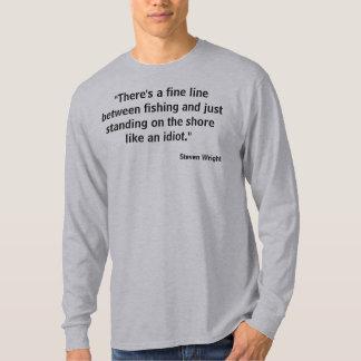 Atração da foto de w do T da pesca da linha ténue Camisetas
