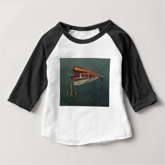 Atração da pesca de gancho camiseta para bebê