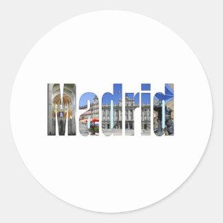 Atracções turísticas de Madrid Adesivo