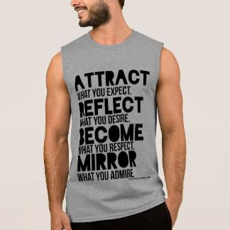 ATRAIA a camisa do músculo dos homens