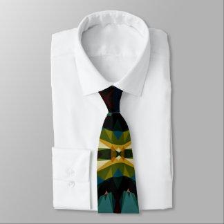 Através da gravata dos homens geométricos da ponte